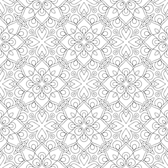 Belo indiano tradicional padrão sem emenda