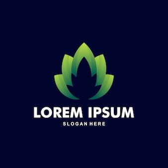 Belo logotipo de lótus premium