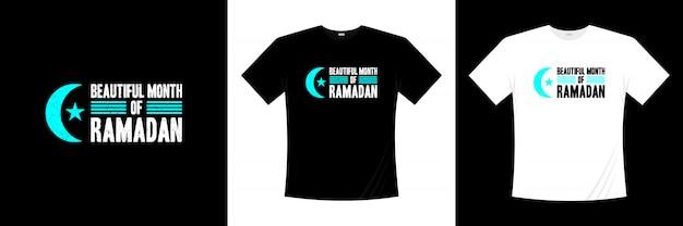 Belo mês de design de t-shirt de tipografia do ramadã