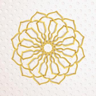 Belo padrão árabe amarelo