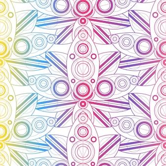 Belo padrão colorido sem emenda com ornamentos naturais. fundo de flores de lótus dourando. ilustração em vetor modelo de lírio d'água tropical. decoração da moda em estilo indiano vintage