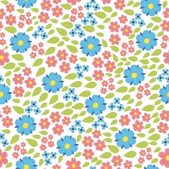 Belo padrão com flores silvestres