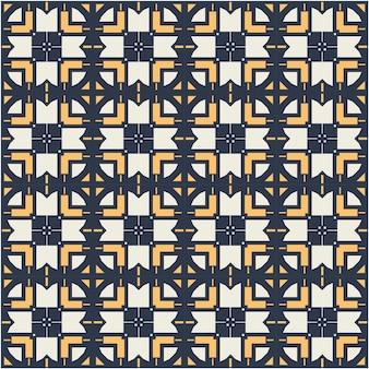Belo padrão de motivos com estilo étnico