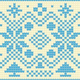 Belo padrão de natal de malha
