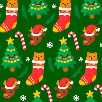 Belo padrão engraçado de natal