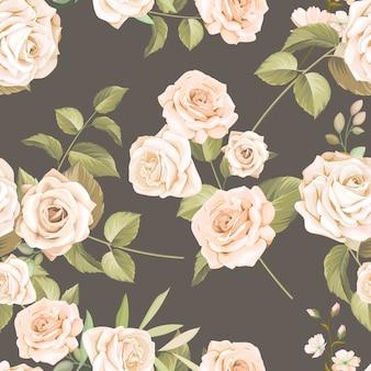 Belo padrão floral sem emenda