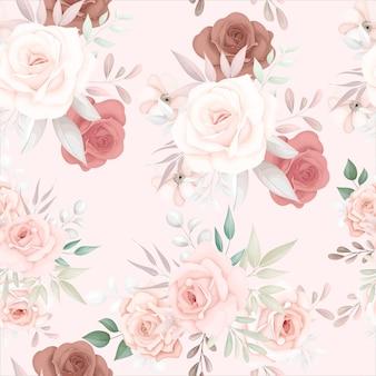 Belo padrão floral suave