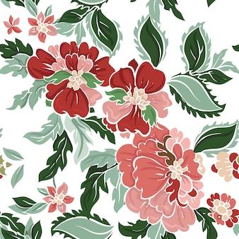 Belo padrão floral.