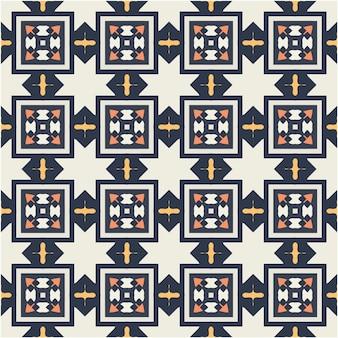 Belo padrão sem emenda com estilo étnico