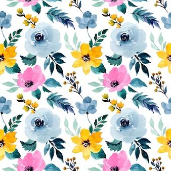 Belo padrão sem emenda floral em aquarela