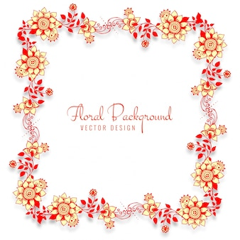 Belo quadro de casamento decorativo floral background