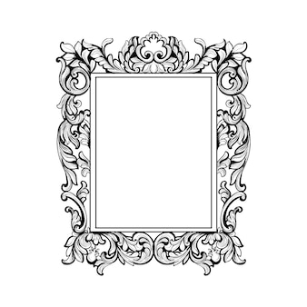 Belo quadro ornamental