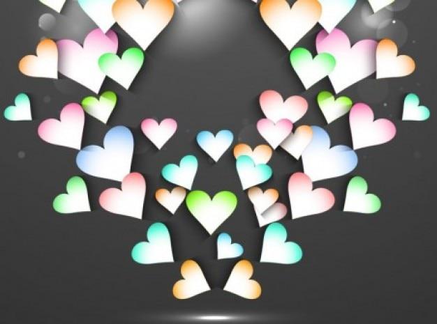 Belo valentine cartões de fundo vector set
