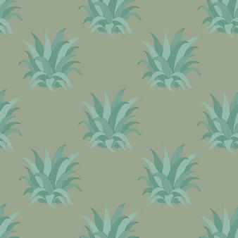Belo vetor sem costura padrão tropical com folhas de abacaxi