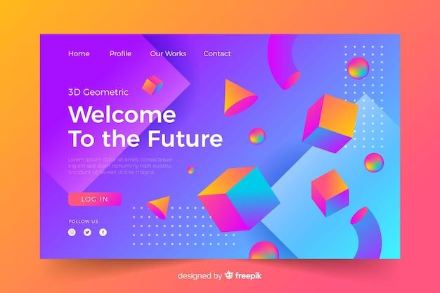 Bem-vindo à futura página de destino 3d
