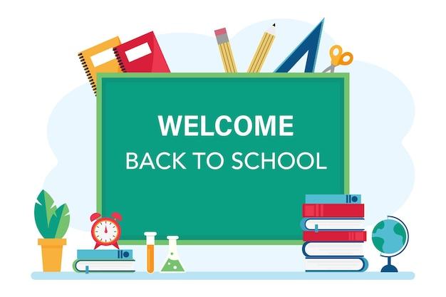 Bem-vindo à ilustração da escola
