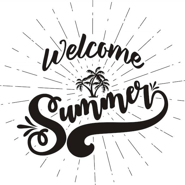 Bem-vindo a ilustração vetorial de verão
