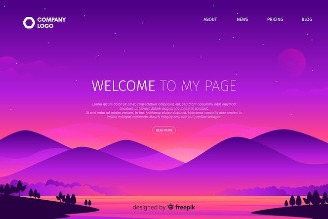 Bem-vindo à minha página com montanhas