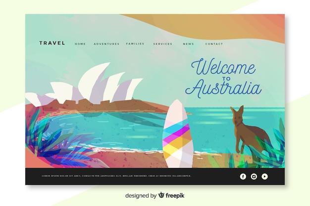 Bem-vindo à página de destino da austrália
