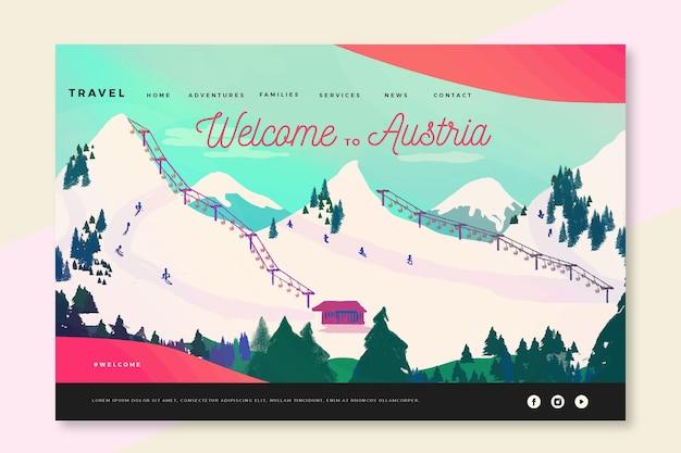 Bem-vindo à página de destino da áustria