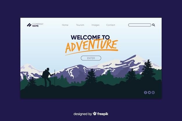 Bem-vindo à página de destino da aventura