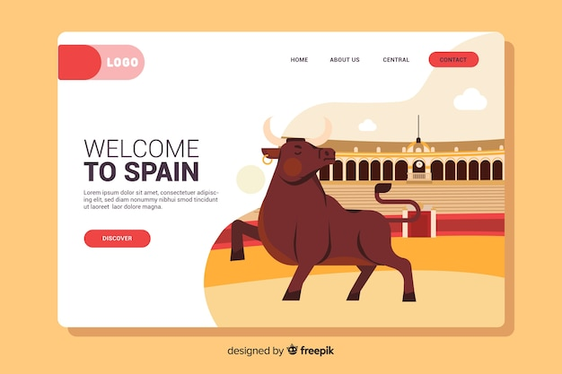 Bem-vindo à página de destino da espanha
