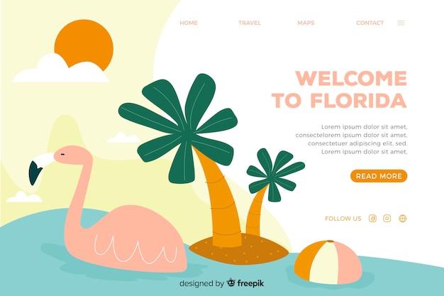 Bem-vindo à página de destino da flórida