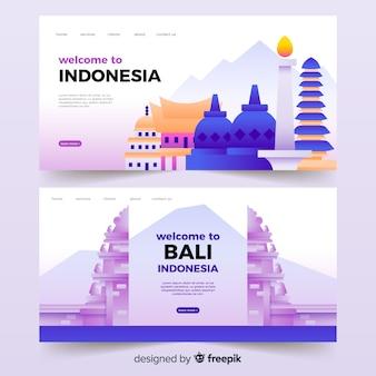 Bem-vindo à página de destino da indonésia