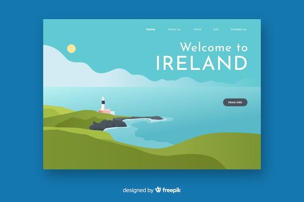 Bem-vindo à página de destino da irlanda