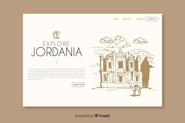 Bem-vindo à página de destino da jordânia