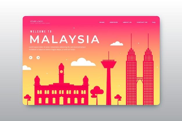Bem-vindo à página de destino da malásia