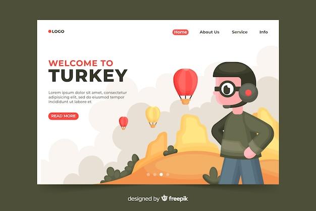 Bem-vindo à página de destino da turquia