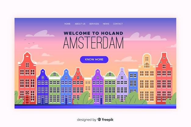 Bem-vindo à página de destino de amsterdã