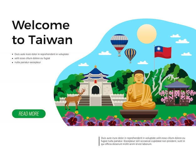 Bem-vindo à página de destino de taiwan