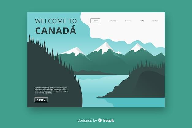 Bem-vindo à página de destino do canadá