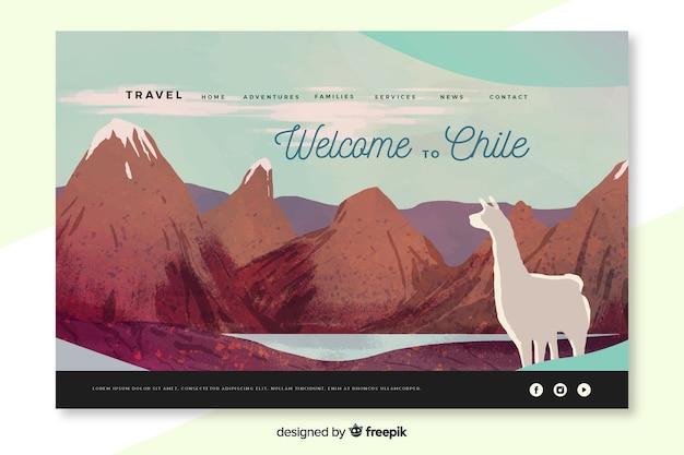 Bem-vindo à página de destino do chile