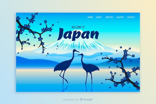 Bem-vindo à página de destino do japão