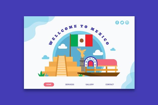 Bem-vindo à página de destino do méxico