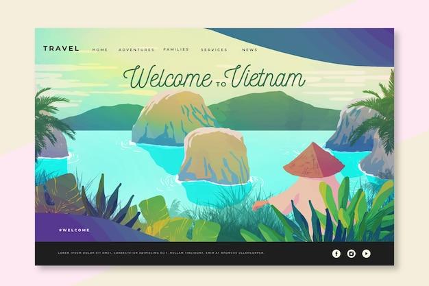 Bem-vindo à página de destino do vietnã
