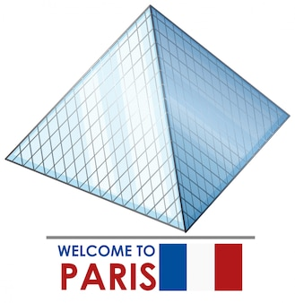 Bem-vindo a paris com lourve