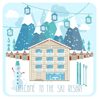 Bem-vindo ao banner da estação de esqui