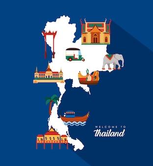 Bem-vindo ao banner da tailândia