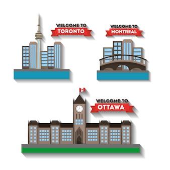 Bem-vindo ao canadá cidades montreal toronto ottawa