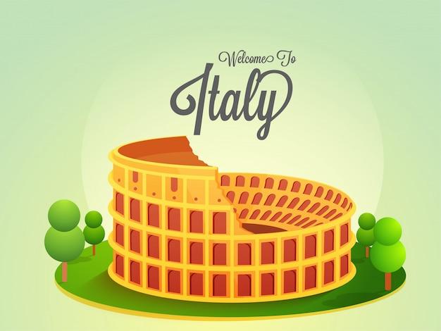 Bem-vindo ao conceito de itália