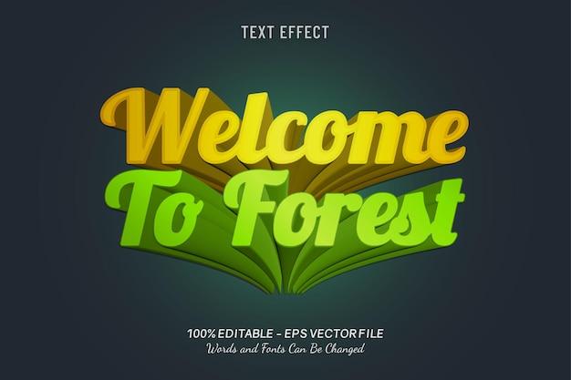 Bem-vindo ao forest text effect