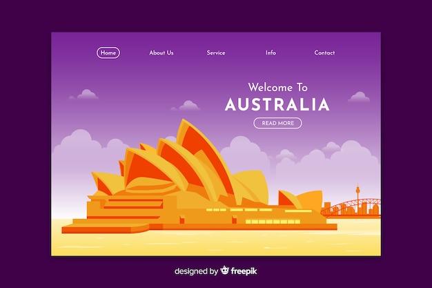 Bem-vindo ao modelo de página de destino da austrália