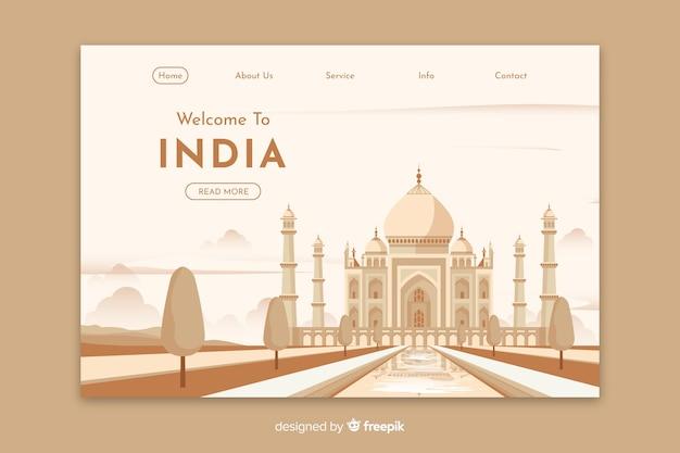 Bem-vindo ao modelo de página de destino da índia
