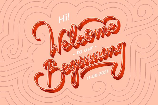 Bem-vindo ao nosso começo letras de casamento