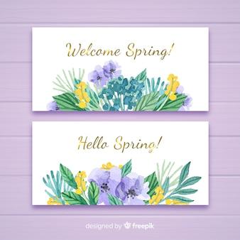 Bem-vindo banners primavera