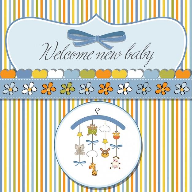 Bem-vindo cartão do anúncio do bebê